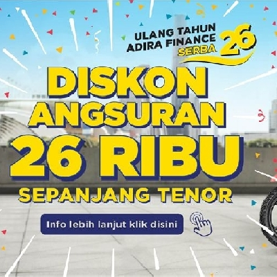 Kredit Motor Honda Bandung Program SERBA 26 Adira Finance